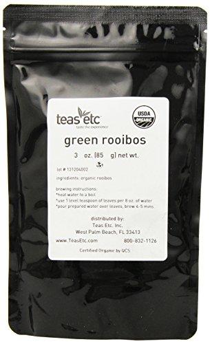 Teas Etc Green Rooibos Organic Loose Leaf Rooibos 3 oz.