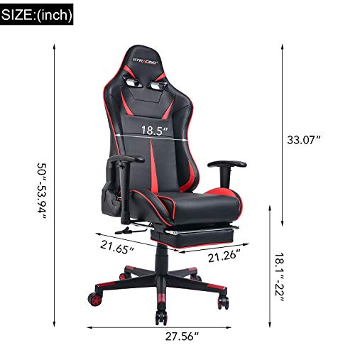 Gtracing Big Amp Tall Gaming Chair With Footrest Heavy Duty