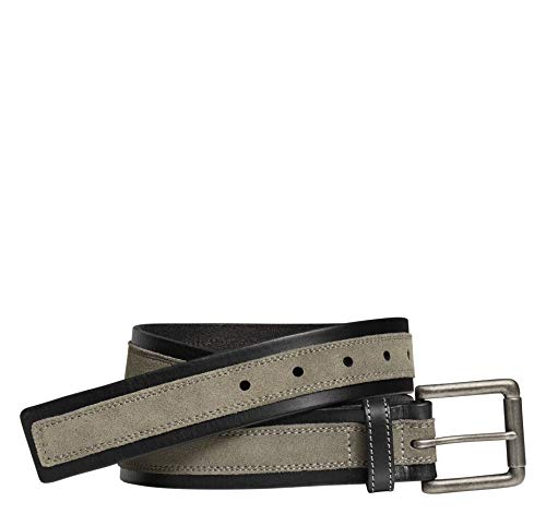 Johnston & Murphy Men's Suede Overlay Belt Black/Gray 36 US ()