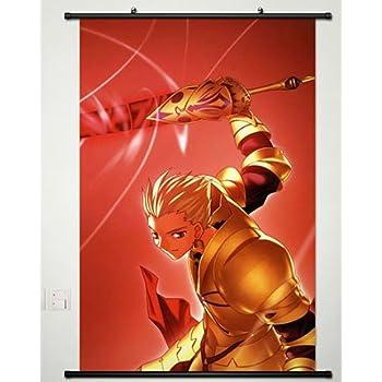 4056 Anime Fate zero Saber Gilgamesh wall Poster Scroll