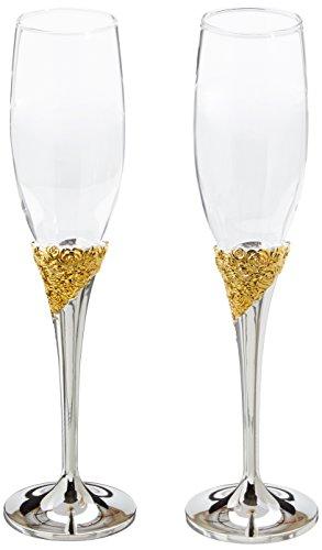 (Lenox Marchesa Rose Toasting Champagne Flutes, Set of 2 )