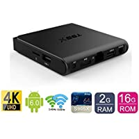 2018 New Configuration SeekEdge Android Mini TV Box with 64Bit Amlogic S905X Ouad-core CPU 2GB Ram+16GB ROM EMMC and Supporting 4K (60Hz) Full HD/H.265/2.4G WiFi/100M