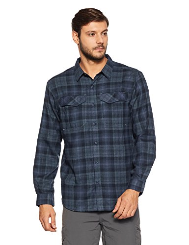 Columbia Men's Silver Ridge Flannel Long Sleeve Shirt, Medium, Collegiate ()