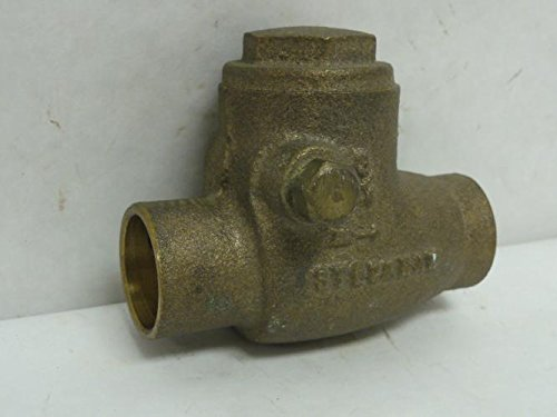 Stockham 10F308 Swing Check Valve, Bronze, 3/4 Solder