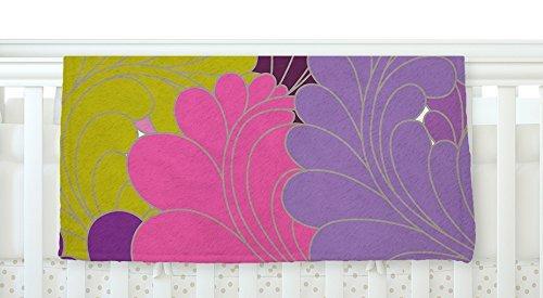 KESS InHouse Nicole Ketchum Moroccan Leaves Fleece Baby Blanket 40 x 30 [並行輸入品]   B077Z37PVC