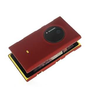 De la armadura de alta calidad duro NETCHER es muy espacioso y protege cubierta de la calidad de fuerte plástico de funda con tapa para Nokia de abejas 1020, plástico, rojo, Nokia Lumia 1020