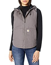 Carhartt womens Washed Duck Hooded Vest