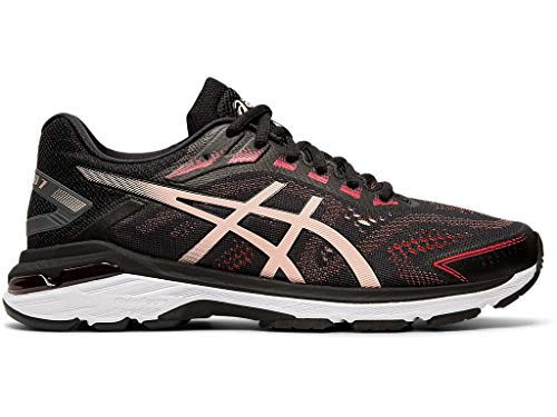 ASICS Women's GT-2000 7 Running Shoes, 8.5M, Black/Breeze