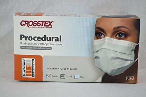 Crosstex International GCPBL Crosstex Procedure Earloop Blue 50/Bx by Crosstex International