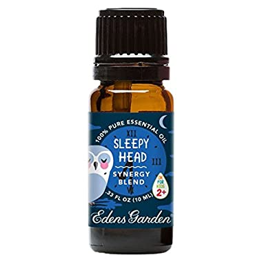 Edens Garden Sleepy Head 10 ml Synergy Blend 100% Pure Undiluted Therapeutic Grade GC/MS Certified Essential Oil