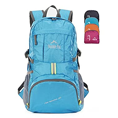 Venture Pal Ultralight Lightweight Packable Foldable Waterproof Travel Camping Hiking Outdoor Sports Backpack Daypack + Lifetime Warranty Blue