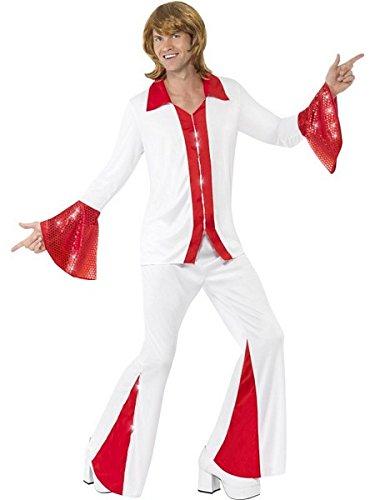 Smiffys Men Super Trooper Male Costume, White & Red, L - US Size -