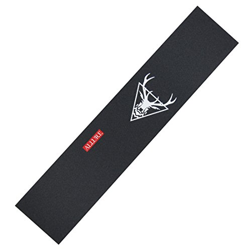 ALLURE Longboard Skateboard Grip Tape Sheet 11'' x 48'' Black Sand Paper by ALLURE