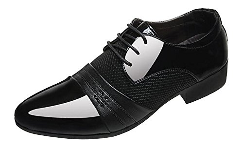 Patent Dress 2017 Breathable Formal Leather Mesh Casual Black Men's Insert Shoes Business OORInq61