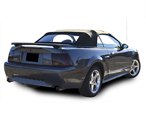 Ford Mustang Complete Two-Piece Factory Style Convertible Soft Top with Heated Glass Window Black Sailcloth (Glass Convertible Top Rear Window)