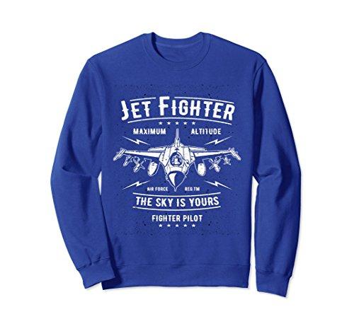 Fighter Pilot Watch - Unisex Jet Fighter Pilot Locked and Loaded Sweatshirt XL: Royal Blue