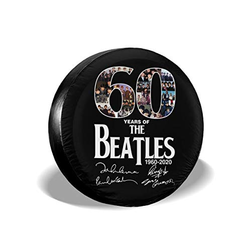 Mr.ChenFang Spare Tire Cover Waterproof Dust-Proof Universal Spare Wheel Tire Cover 60 Years of The Beatles Gift (Beatles Cover Tire)