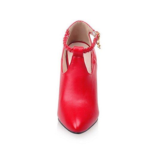Balamasa Dames Cheville Manchette Strass Cloutés Boucles Métal Boucles Matériaux-pompes Chaussures Rouge