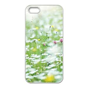 Okaycosama Funny IPhone 5,5S Cases Flower 15 for Girls Protective, Apple Iphone 5s Case, {White}