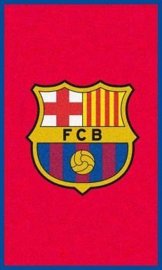 FC Barcelona Crest Rug - Code Delivery Direct Sports