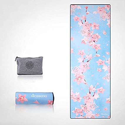 YOOMAT Microfiber Non-Slip Yoga Blanket Portable Folding ...