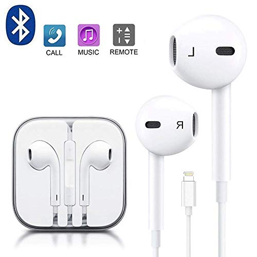 Compatible Earbuds for iPhone 7 Earbuds, Earphones/Earbuds with Microphone Stereo Headphones for iPhone X / 7/7 Plus 8/8 Plus
