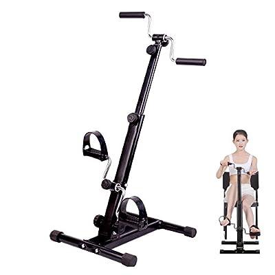 Carejoy Pedal Exerciser, Adjustable Resistance Arm & Leg Indoor Fitness Training Machine Upper and Lower Extremity Stroke Hemiplegia Rehabilitation Mini Exercise Bike