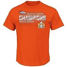 Majestic NFL Denver Broncos Super Bowl 50 Champs II Tee-Small