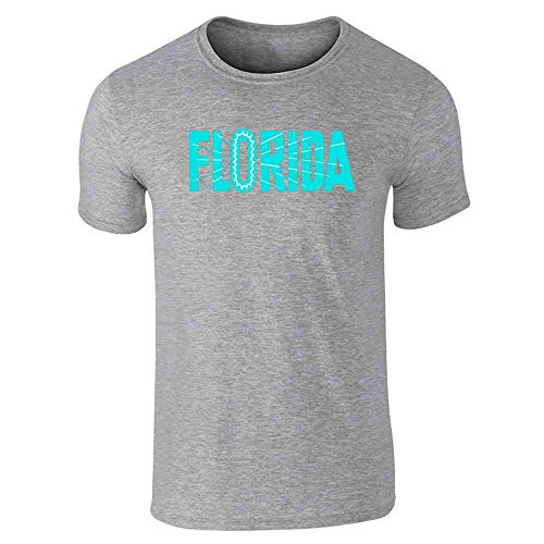 Florida State Retro Vintage Travel Gray L Short Sleeve ()