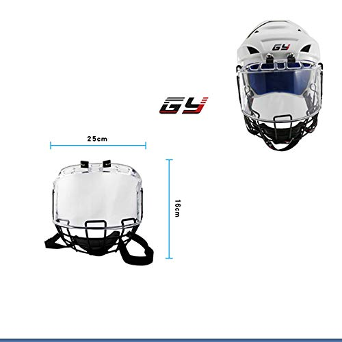 GY PC300 Thicken Polycarbonate with Steel Combo Ice Hockey Mask Helmet Cage Strong Impact Resistance Size Free (Hockey Visor Reviews)