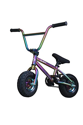 R4 Oil Slick Neo Chrome Complete Pro Mini Bmx Bicycle Trick Jump Freestyle With Pegs, USA -  R4oilmini