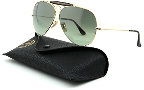 Ray-Ban RB3138 Shooter Gradient Unisex Metal Sunglasses (Gold Frame/Light Grey Gradient Dark Grey Lens 181/71, - Ban Rb3138 Ray