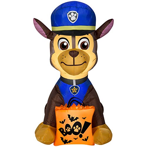 Lowes Halloween Inflatables (Halloween Airblown Inflatable Chase Outdoor Yard Decor Decoration with Boo Bag by Gemmy)