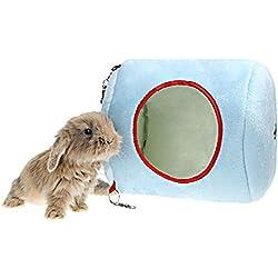 Warm Rabbit Hanging Bed 7.8 X 7.8 X 9 Inch Random Color
