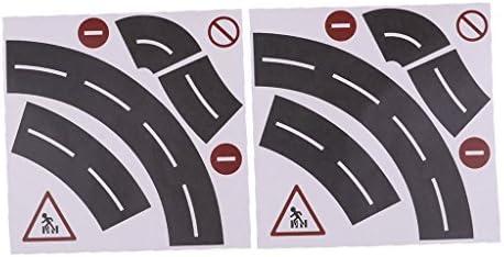 chiwanji 子供DIYの付属品の道の線路の党演劇のための道路標識の粘着テープ - #2