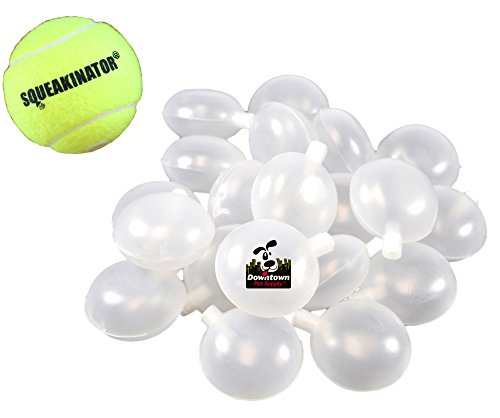 Downtown Pet Supply 30 Replacement Squeakers, Variety Pack (10 Medium, 10 Bellowed, and 10 Large Squeakers) + FREE Tennis Ball that SQUEAKS, THE SQUEAKINATOR by Downtown Pet Supply (Image #2)
