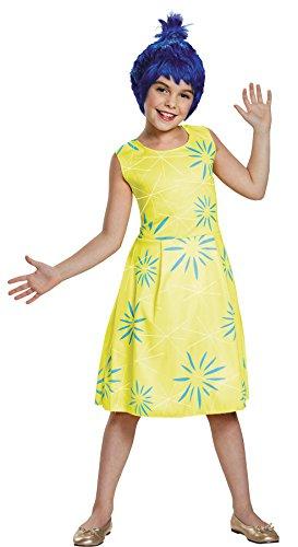 Girl's Disney Animated Cartoon Movie Inside Out Emotion Joy Fancy Costume, Child S (4-6X) Yellow/Blue