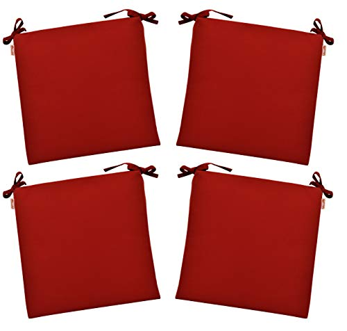 (RSH Décor Set of 4 Indoor/Outdoor Sunbrella Canvas Jockey Red 3