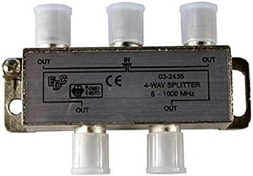 EDC 03-2435 BK distribuidor 4-con conmutador para cables de señal y de antena de CA