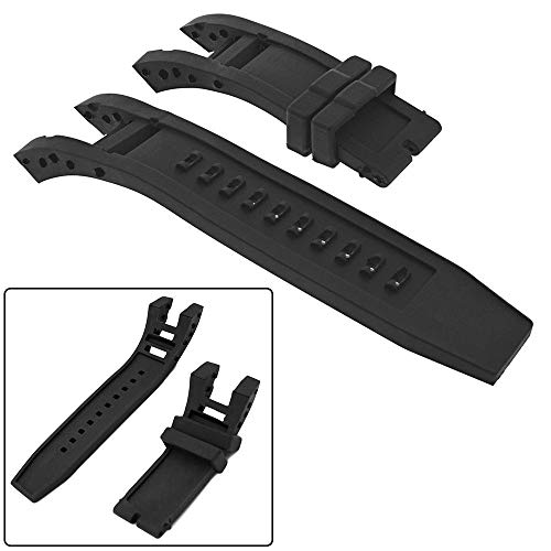 Invicta Watch bands Rubber Watch Band /Strap Replacement Men for Invicta Subaqua Noma IV - Black Invicta Watch Strap