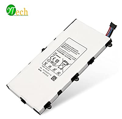 YTech 4000mAh T4000E Replacement Battery for Samsung Galaxy Tablet 3 7.0 SM-T210R T210 T211 T217 T4000E kids T2105 T2105 P3200 1588-7285 -[3.7V 14.8Wh] from YTech