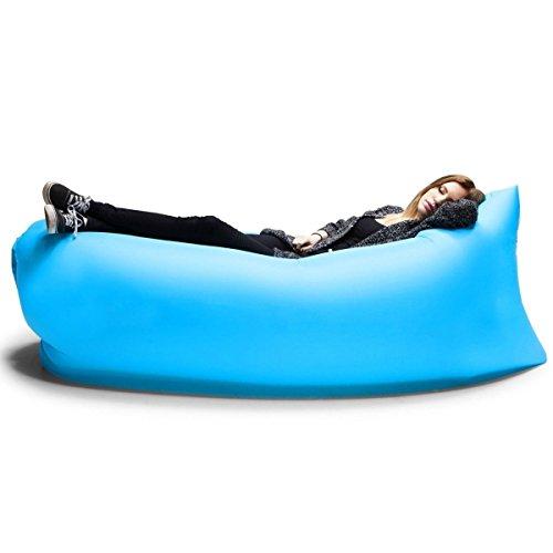 Inflatable Outdoor Air Sleep Sofa Couch, RIOGOO Nylon Fabric Bags Air Beds Compression Hangout Bean Bag Portable Chair Air Mattresses Bedding
