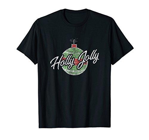 Vintage Christmas Bulb Shirt Holly Jolly Holiday Gift