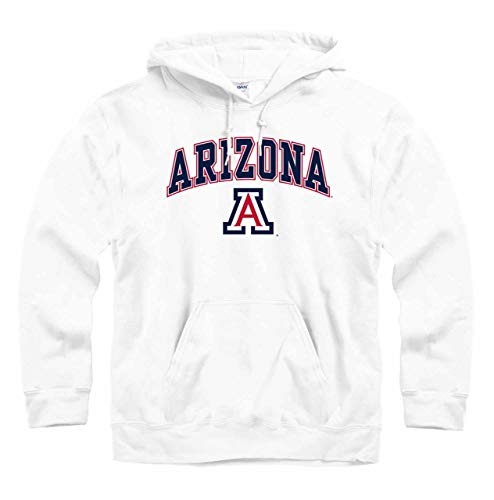Campus Colors Arizona Wildcats Arch & Logo Gameday Hooded Sweatshirt - White, Medium -