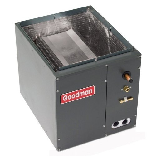 Ton Evaporator Coil (Goodman 1.5 to 2.0 Ton - CAPF1824A6 - W 14 x D 21 x H 18 - Cased Evaporator Coil - Goodman CAPF Cased Upflow/Downflow air conditioner condenser coil is made for split system air conditioners and heat pumps.)
