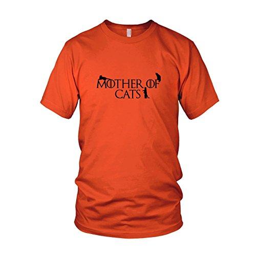Mother of Cats - Herren T-Shirt, Größe: S, Farbe: orange