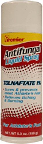 Premier Tolnaftate Antifungal Athlete's Foot Liquid Spray 5.3 oz (Pack of 5) (Tolnaftate Spray Antifungal Foot Liquid)