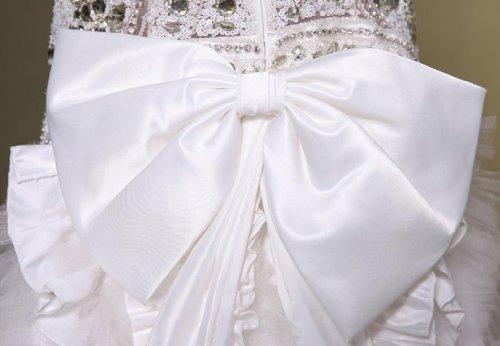 Kragen Hoher Dearta Kleidungen Brautkleider Schleife Perlenstickerei Tuell Damen Mit Kristall Schleppe Meerjungfrau Weiß Trompete Hof IHHrXFn5