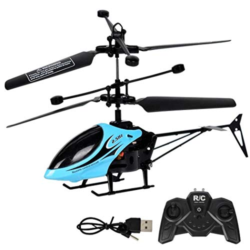 Suines 2 Channel Mini RC Helicopter Radio Remote Control Model Toy with LED Light Helicopters