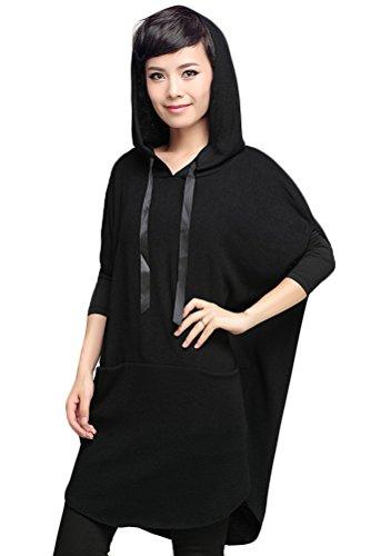 Voguees - Sudadera - camiseta de servicio civil - para mujer negro
